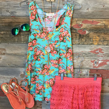 Floral Bow Back Tank
