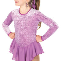 572 Swirly Girl Dress - Petal Purple Figure Skating Store