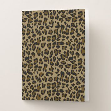 Leopard Print Pocket Folder