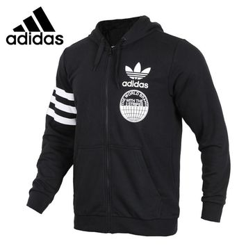 Original New Arrival Official Adidas FULLZIP HOODIE Men's Comfortable Jacket Hooded Sportswear Good Quality CZ1751/CZ1752