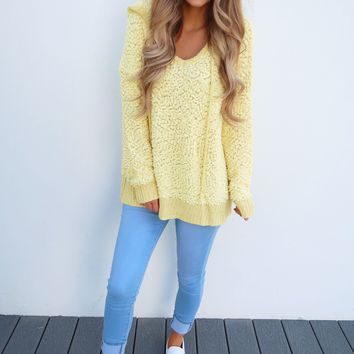 The Snuggle Sweater: Canary Yellow
