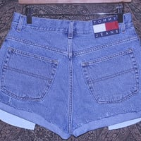 Vintage Tommy Hilfiger Denim High Waist Shorts
