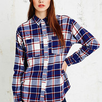 BDG Egret Double Pocket Shirt - Urban Outfitters