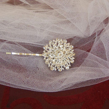 Rhinestone Bridal Hair Pin, Bridesmaid Hair Comb, Wedding  Hair Pin