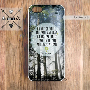 Quote iPhone 5 Case iPhone 4 Case  Trees iPhone 4 by casesbycsera