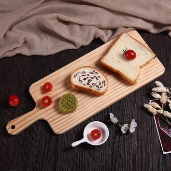 Wood Chopping Blocks Reusable Rectangle Cutting Board Bread Cheese Sushi And Pizza Tray Wooden Fruit Cutting Board