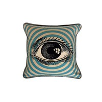 Pop Art Eye Pillow In Natural/Blue Combo | Thirteen Vintage