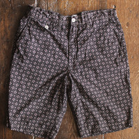 - Lined Menpolini Shorts in Vintage Calico, Brown / Red