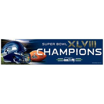 DCCKG8Q NFL Seattle Seahawks Super Bowl Champions Bumper Sticker