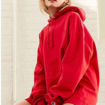 DCCKI2G Champion Women Fashion Embroidery Hoodie Pullover Top Sweater