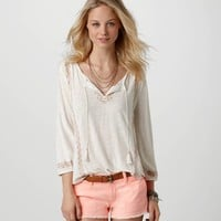 AE Embroidered Boho T | American Eagle Outfitters