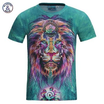 Unisex 3D T-Shirt Colorful Lion Print As Well As Other Beautiful Prints