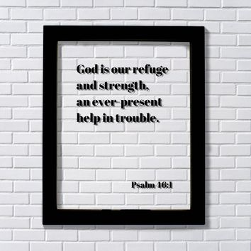 Psalm 46:1 - God is our refuge and strength, an ever-present help in trouble - Scripture Bible Verse