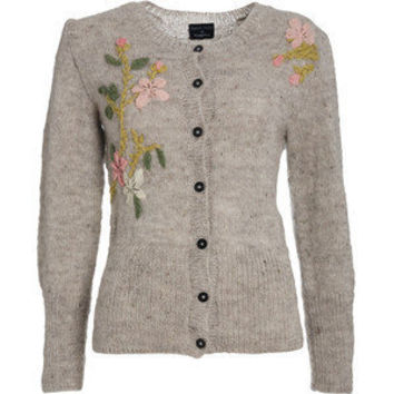 Camile Flower Cardigan - Polyvore