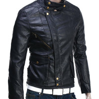 Men's Modern Black Biker Leather Jacket | Style and Decor