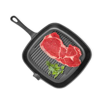 Cast Iron Grill Frying Pan Skillet Iron Non-Stick BBQ Kitchen Cooking Tools