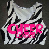 ZEBRA CHEERLEADER Sports Bra