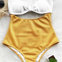 Cupshe Comfort Your Heart Halter One-piece Swimsuit