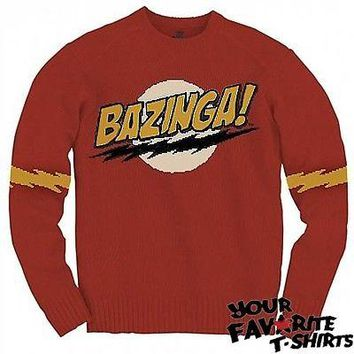 Big Bang Theory Bazinga Sheldon Cooper Adult Knit Sweater