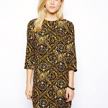 ASOS Shift Dress In Chain Print