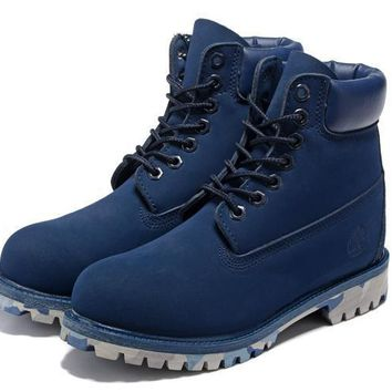 Men's Timberland Icon 6-inch Premium Classic Blue Waterproof Boots