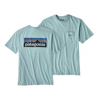 Patagonia M's P-6 Logo Cotton Pocket T-Shirt - Tubular Blue