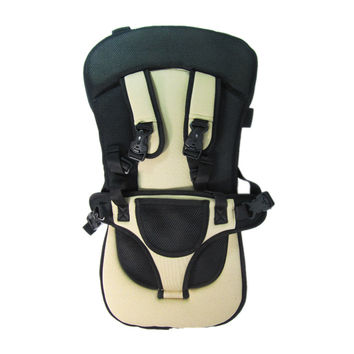 Multifunctional child car safety seat baby seat child safety seat belt chair   KHAKI