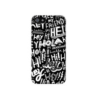 P2744 Hey Hi Hello Pattern Phone Case For IPHONE 4