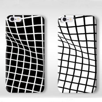 Twisted Grid Pattern Silicone Iphone 6s 5 6 Plus creative cases