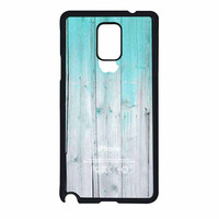 Wood Mint Apple Samsung Galaxy Note 4 Case