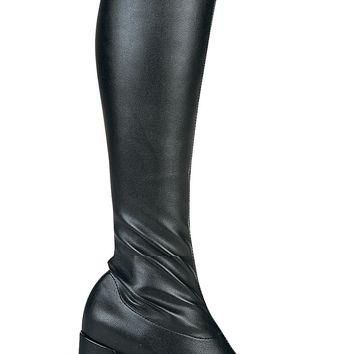 Women's Shoes 3 Inch Gogo Boots With Zipper (5,Red)