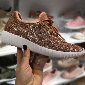 Glitter Rose Gold Sneakers