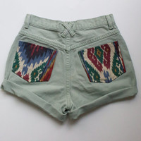 Vintage 27in High Waisted Denim Shorts
