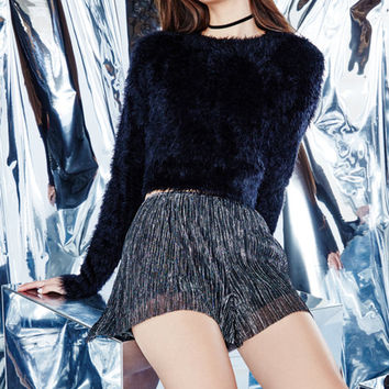 Kendall & Kylie Lurex Pleated Shorts at PacSun.com