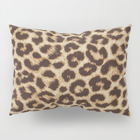 Leopard Print Pillow Sham by Smyrna