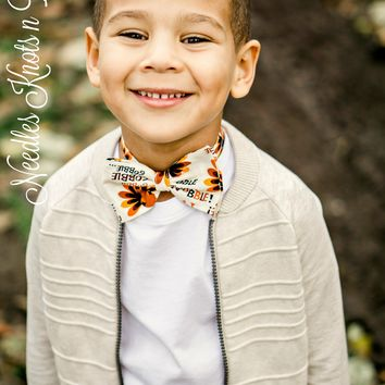 Thanksgiving Turkey Bow Tie, Boys Turkey Bowtie, Boys Accessories