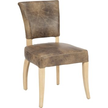 Blyth Dining Chair Light Brown Distressed Topp Grain Leather
