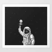 Space Collector Art Print by lostanaw