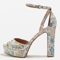 MARGOT Jacquard Heeled Platforms | Topshop