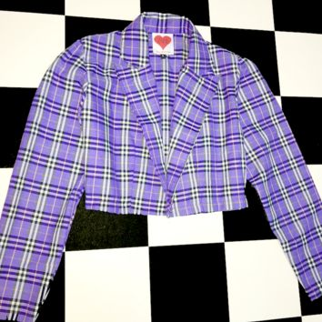 SWEET LORD O'MIGHTY! DAPHNE BLAKE CROPPED BLAZER