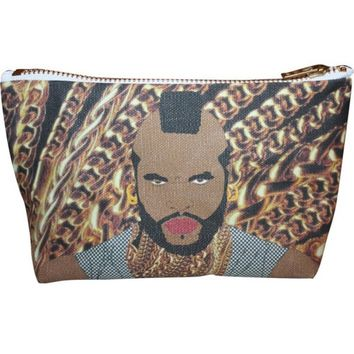 Mr. T Pop Zipper Pouch and Makeup Bag – Illustrated and Handmade in the USA