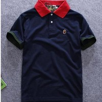 Men's Japan Ape Bape Logo Casual Polo