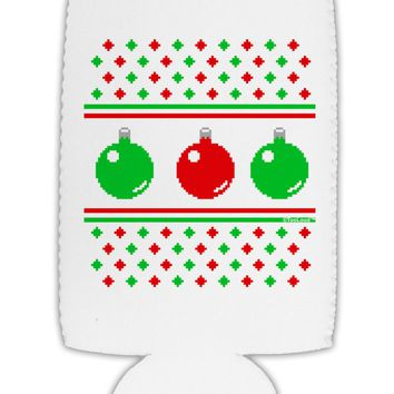Ugly Christmas Sweater Ornaments Collapsible Neoprene Tall Can Insulator