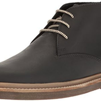 Clarks Men's Bushacre Ridge Chukka Boot, Black, 10 M US