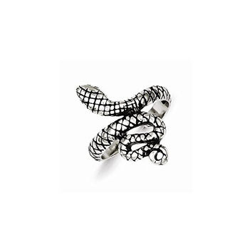 Sterling Silver Antiqued Snake Toe Ring, Best Quality Free Gift Box Satisfaction Guaranteed
