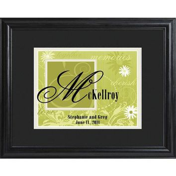 Couple's Name Frame - Green