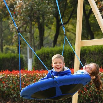 "YONTREE 1PC Kids Swing 40"" Flyer Nylon Hanging Hammock Playground Toy Outdoor Furniture Stock in US"
