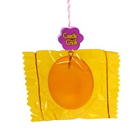 Holiday Ornaments Candy Crush Orange Wrapped Resin Ornament