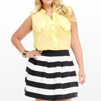 Plus Size Jamie Textured Flare Skirt | Fashion To Figure