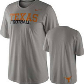 Texas Longhorns Youth t-shirt Nike Dri-Fit Texas Football NCAA Hook em Horns NWT